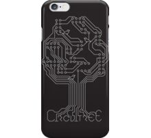 Circuit Tree - Silver on Ashphalt iPhone Case/Skin