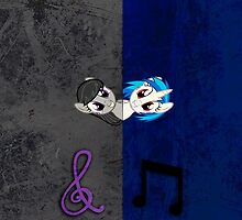 Vinyl Scratch and Octavia Grunge iPhone Case by tychilcote