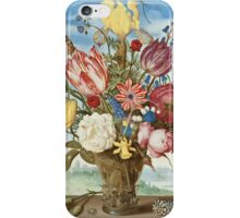 Ambrosius Bosschaert - Bouquet of Flowers on a Ledge iPhone Case/Skin