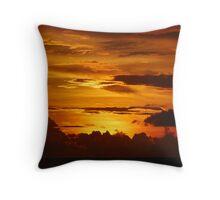 BURNT ORANGE SUNSET Throw Pillow