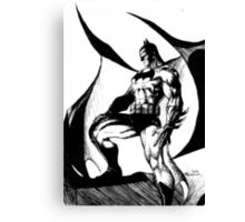 Black and White Knight Canvas Print