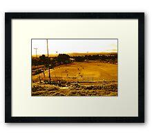 The baseball field Framed Print