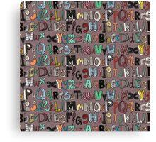 ABC mocha multi Canvas Print