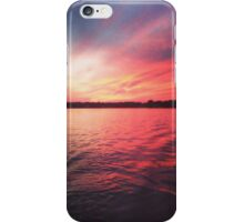 Sunset in Indianapolis, Indiana iPhone Case/Skin