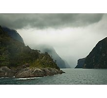 Milford Sound in Cloud  Photographic Print