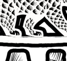 Cali Bear (Tropical Font) Sticker