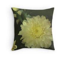 Antiqued Flower  Throw Pillow