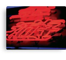 Red Neon Canvas Print