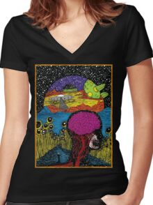 Paradox Moon Women's Fitted V-Neck T-Shirt