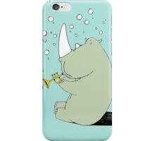Rhino Blowing Bubbles iPhone Case/Skin