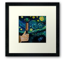 Wibbly Wobbly Night Framed Print
