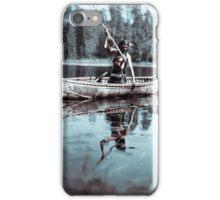 An Ojibwe Native American spearfishing, Minnesota, 1908. Infrared view iPhone Case/Skin