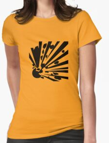 Danger - Explosive! Warning Sign Womens Fitted T-Shirt