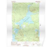 Maine USGS Historical Map Churchill Lake 105028 1989 24000 Poster