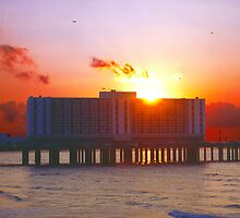 Sunrise At The Flagship Hotel by Tex Smock
