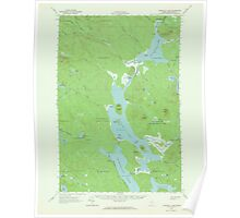 Maine USGS Historical Map Churchill Lake 306524 1962 62500 Poster