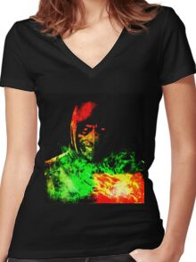 Immortal Kombat Women's Fitted V-Neck T-Shirt