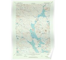 Maine USGS Historical Map Churchill Lake 306525 1962 62500 Poster