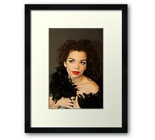 Black Fur Framed Print