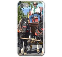 Tombstone Stagecoach Arriving - Arizona 2014 iPhone Case/Skin