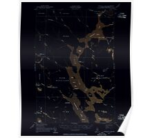 Maine USGS Historical Map Churchill Lake 460323 1954 62500 Inversion Poster