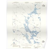 Maine USGS Historical Map Churchill Lake 460323 1954 62500 Poster