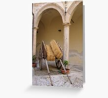Sicilian Carriage Greeting Card