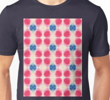 red and blue splotches Unisex T-Shirt