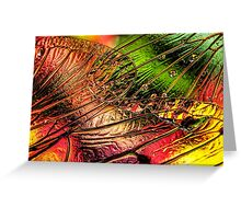 Fall of the Crystal Leaves Greeting Card