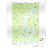 Maine USGS Historical Map Churchill Lake 460324 1962 62500 Poster
