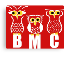 BMC Owls - Red Canvas Print