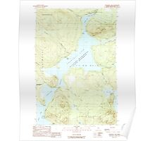 Maine USGS Historical Map Churchill Lake 460325 1989 24000 Poster