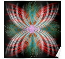 Feather Flower Poster