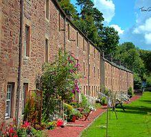 New Lanark Houses by Tom Gomez