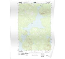Maine USGS Historical Map Churchill Lake 20110906 TM Poster