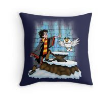 Wand and the Wizard Throw Pillow