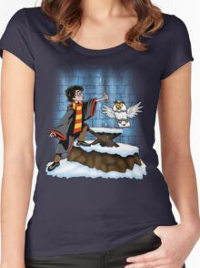 Wand and the Wizard Women's Fitted Scoop T-Shirt