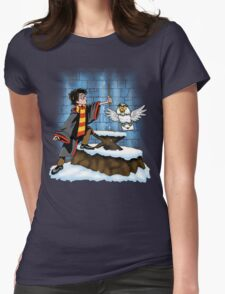 Wand and the Wizard Womens Fitted T-Shirt