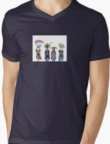 Flower People Mens V-Neck T-Shirt