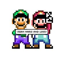 TEAM MARIO AND LUIGI by swhitewat