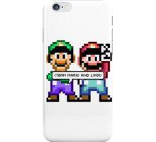 TEAM MARIO AND LUIGI iPhone Case/Skin