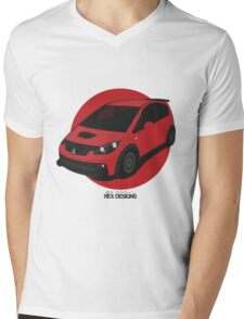 "Mitsubishi Colt Ralliart ""Rising Sun"" Mens V-Neck T-Shirt"