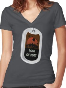 Tour of Duty Women's Fitted V-Neck T-Shirt