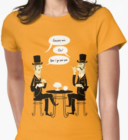 Oui Oui Tea Time Womens Fitted T-Shirt