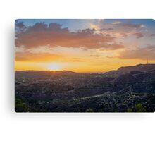 hollywood hills Canvas Print