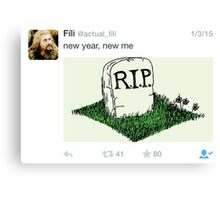 Fili - Tweets Canvas Print
