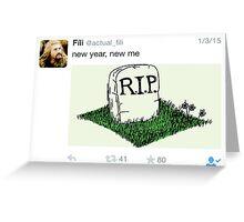 Fili - Tweets Greeting Card