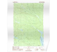 Maine USGS Historical Map Clarkson Pond 105030 1989 24000 Poster