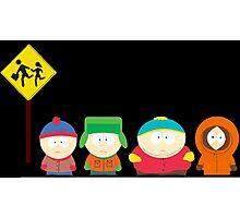 South Park Bus Stop Photographic Print