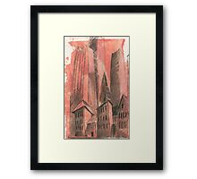 City history Framed Print